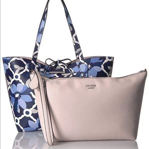 NWOT Guess Bobbi Floral Inside Out Tote